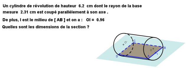 section d'un cylindre exo3