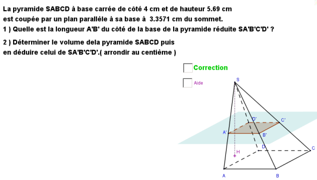 section d'une pyramide exo5