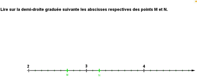 fractions lecture droite exo2