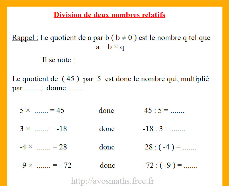 correction exercice de math 4eme